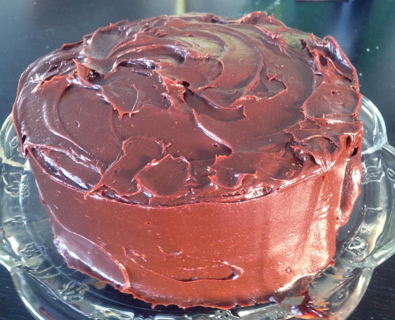 Pumpkin Layer Cake With Chocolate Ganache