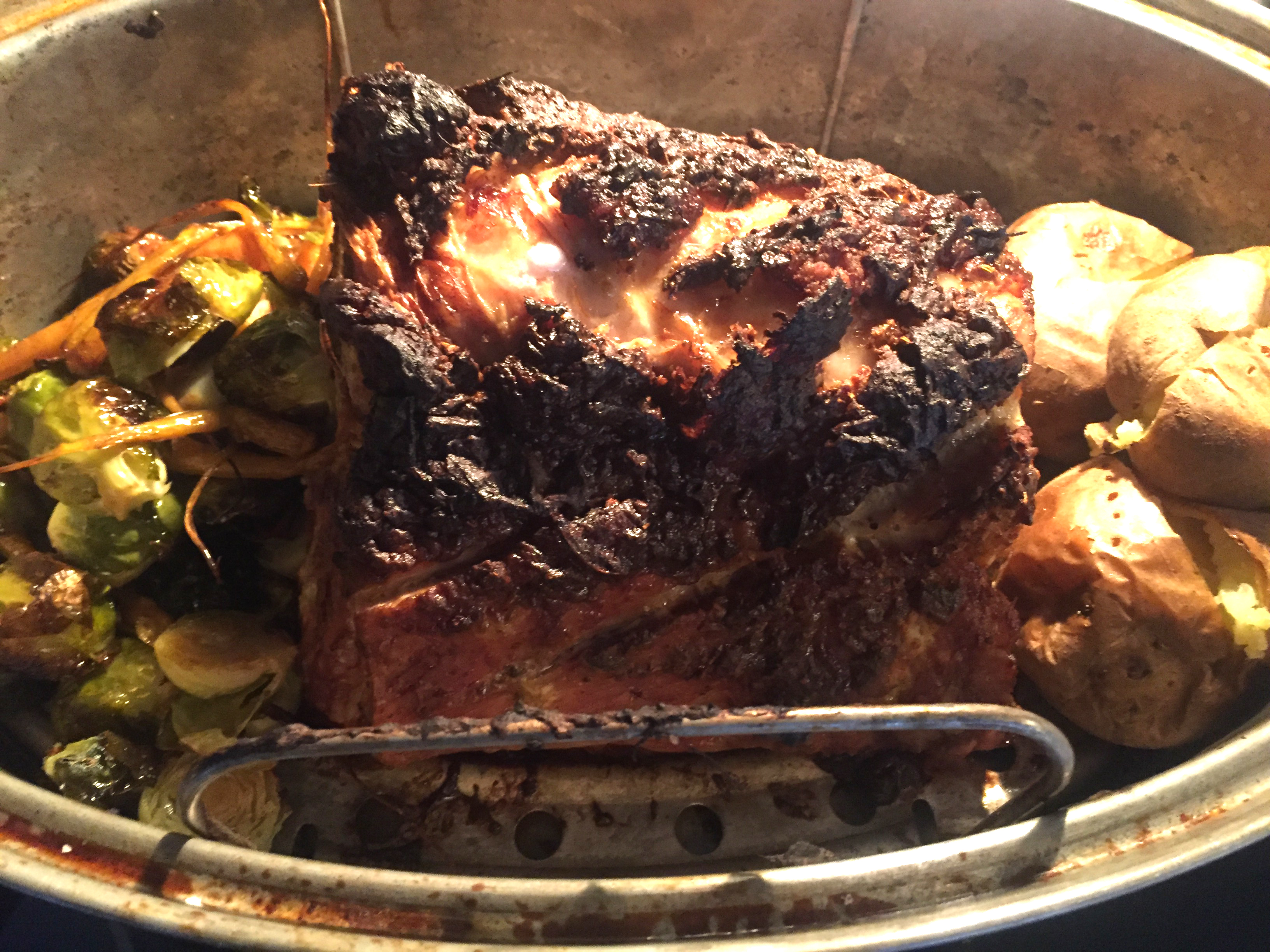 On The Bone Rib End Pork Roast Is Tender And Juicy The Golden Dish